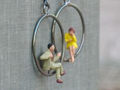 tiny people hoop earrings- yellow & tan on Etsy, Sold: god I love these. If only I didn't let them sell to someone else.