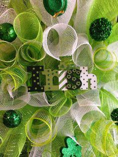 Saint Patricks Day wreath St Patricks day decor by FunWithWreaths