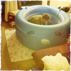Having had three home waterbirths, I loved this piece on setting up a birth tub for a homebirth   - including one important tip for apartment dwellers!