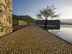 I love the simplicity of this. water hous, landscap, houses, li xiaodong, waterhous, pool, architectur, china, atelier
