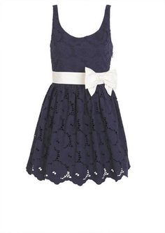 Bow Belted Eyelet dress. Super cute.