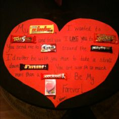 Poster board candy bar Valentine's Day card.