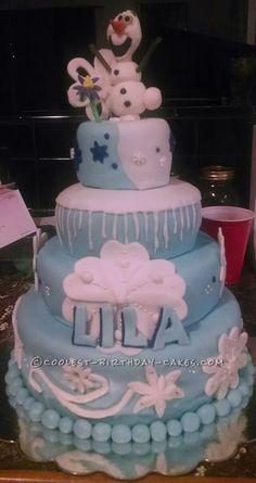 Coolest Disney Frozen Birthday Cake...