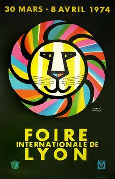 Foire de Lyon by Morvan 1974 #lion #illustration