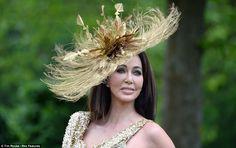 Golden ostrich feathers
