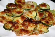 Baked Zucchini with Melted Mozzarella Cheese | Chatty Gourmet
