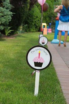 birthday parti, parti sign, cupcake party, cupcak sign, printabl cupcak, cupcak parti