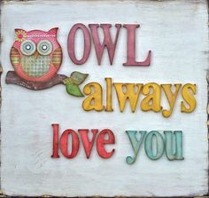 Adorable wall art for an owl themed nursery or kid's room