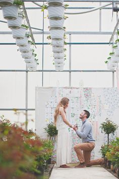 surprise greenhouse proposal, photo by Simply Rosie http://ruffledblog.com/surprise-greenhouse-proposal #engagement #surpriseproposal