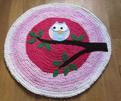 owl crochet rugs - No pattern but looks easy enough.