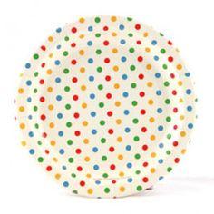 birthday parti, rainbow plate, polka dots, party plates, parties, parti plate, rainbow parti, dot plate, parti idea