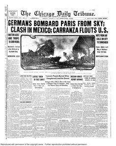 Aug. 31, 1914: Germans bombard Paris from the sky.