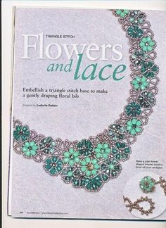 Necklace - Flower and lace tutorial