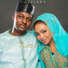 Hausa couple in their traditional wedding attire