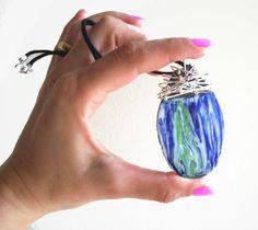 Mt Etna Lava rock jewelry Silver Wire Wrapped by Pietralavica, €21.00