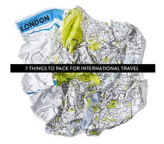 7 Things to Pack for International Travel