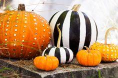 2 Ways to Make Chic No-Carve Pumpkins via Brit + Co.