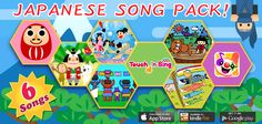 Japan Pack is finally out!!! Presenting 6 great Japanese songs and games your kids are sure to fall in love with!! Mr. Daruma, Ogre's Pants, Carp Streamers as well as Momotaro, Kintaro and Urashimataro!! iTunes   https://itunes.apple.com/app/id655370145  Google Play   https://play.google.com/store/apps/details?id=jp.co.xing.picturebook=en  Amazon Kindle http://www.amazon.com/gp/product/B00E95A4JE