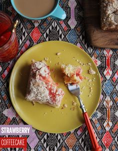 Strawberry Coffeecake // take a megabite