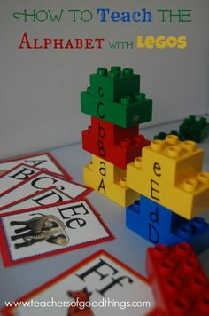 How to Teach the Alphabet with Legos from Teachers of Good Things