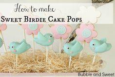 Super sweet bird cake pops free video tutorial