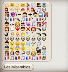 les miserables in emoticons