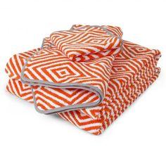 orange + white arcade bath towel :: jonathan adler