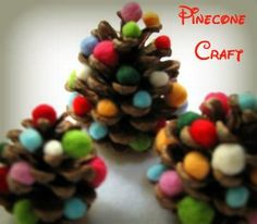 Pinecone Christmas craft for kids