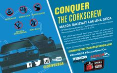 The first qualifying event for the 2014 #OUSCI is just a few weeks away. Are you ready to conquer the corkscrew at the Legendary @Mazda Raceway Laguna Seca ? If so, head over to www.ultimatestreetcarassociation.com and sign up to run today!
