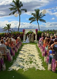 An oceanfront lawn to-die-for wedding