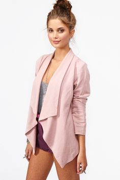 Pretty pink flowing blazer - i want