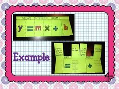 Slope Intercept Form Flippable and Practice for Interactive Notebooks $