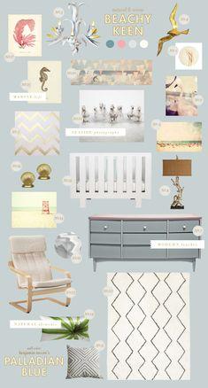 Modern Nursery for a baby girl