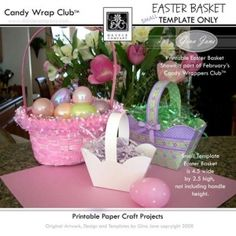 Template - Paper Easter Basket By Gina Jane Designs - DAISIE Company