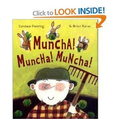 Muncha! Muncha! Muncha!    trying to keep the rabbits out of the garden muncha, funny books, preschool spring, spring theme, garden, theme speech