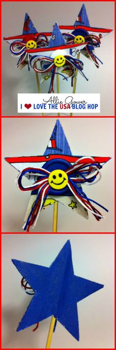 PHOOMPH Project by Allie Gower, Star Wands  #laurakellyartusa  #craftpatriotic #ilovetheusablog