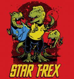 Star T-Rex – TeeFury « Daily T-Shirts