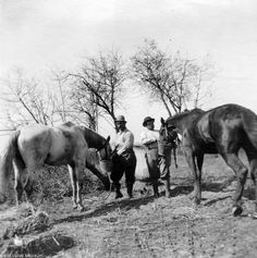 Camping and hunting near Leonis Adobe in Calabasas, January 1, 1910. The Leonis Adobe was the home of Miguel Leonis, owner of the old El Escorpion Ranch, and his wife Espiritu Chujilla Leonis. West Valley Museum. San Fernando Valley History Digital Library.