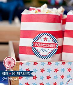 Free Printable 4th of July Labels…