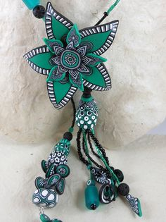 Emerald Lariat #2 (detail of flower slider) by My colourful journey, via Flickr