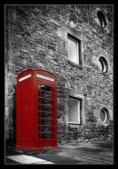 Telephone booth in Edinburgh