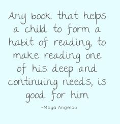 quotes about reading for kids, book, angelou quot