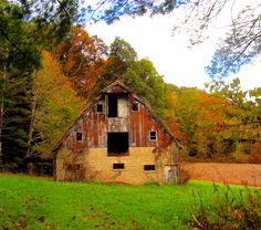This barn and its setting was a great find while driving in Brown County near Nashville one glorious fall day!