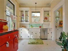 Red stove!  Love it :)