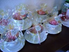 Tea Party; Tea Cup party favors.. This would be an AWESOME idea for a bridesmaids brunch as favors!