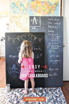 diy oversized chalkboards & chalkboard paint