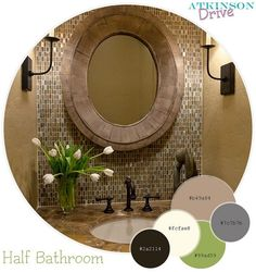 Half Bathroom Color Palette