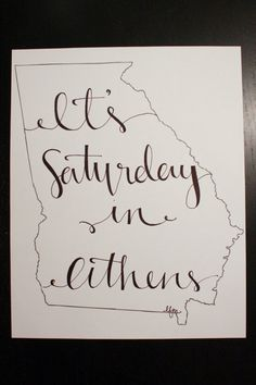 Georgia: Saturday in Athens Print. $15.00, via Etsy.