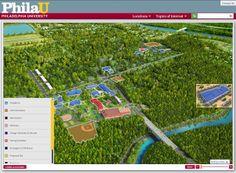 Philadelphia University Campus Map  Maps  Pinterest