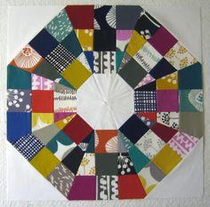 Tutorial for making a modern octagonal quilt block